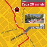 Reus Transport estrena dilluns una parada provisional a la urbanització Pàmies