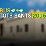 Servei especial TOTS SANTS 2016. Bus gratuït dia 1 de novembre