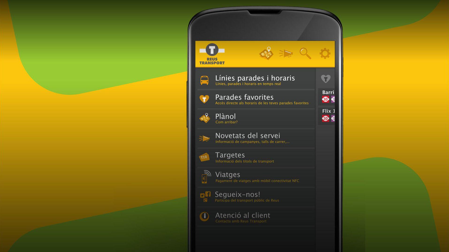 Reus Transport renova l'app, que permet localitzar parades i horaris sobre plànol