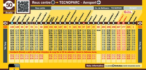 Nous horaris de la línia L50 a partir de l'1 d'octubre