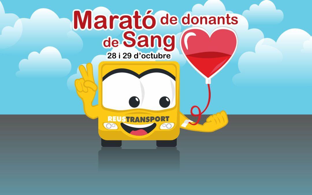 Reus Transport amb la Marató de donació de Sang a Reus