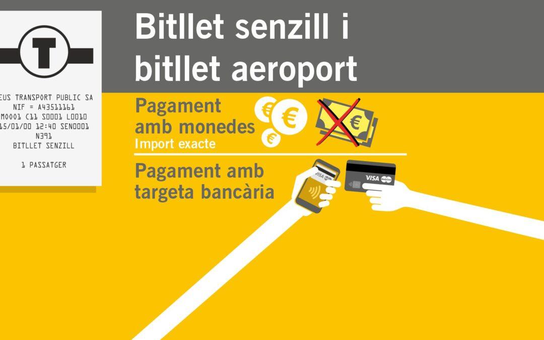 Reus Transport recupera el pagament en efectiu