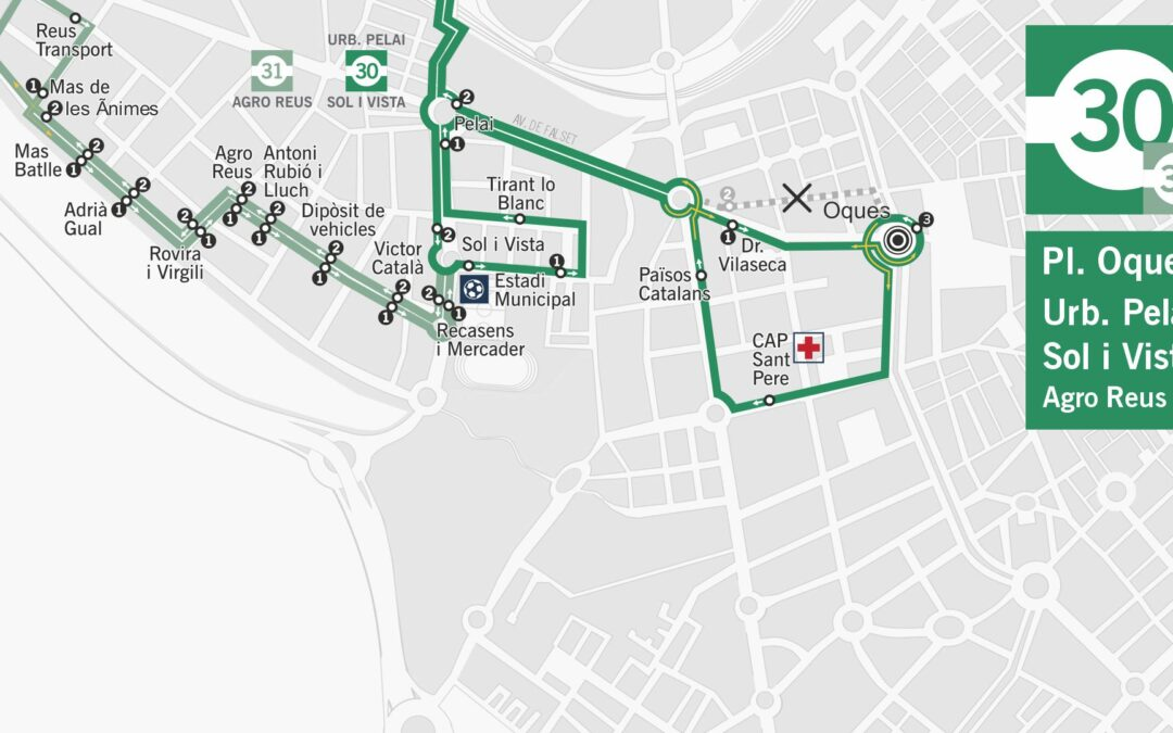 La línia 30 té nous horaris i noves parades a CAP Sant Pere i Països Catalans